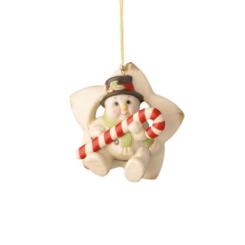 Lenox, sitzen auf Einer Star Schneemann, Weihnachten Ornament -