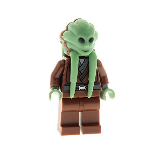 Bausteine gebraucht 1 x Lego System Figur Star Wars Kit Fisto Torso Reddish rot braun Kopf Sand grün 852947 8088 7661 57901pb01 973pb0416c01 sw163