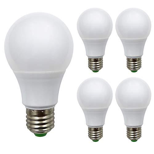 4er Pack,ZHENMING E27 Led Glühbirne,12V-24V 7W 720 Lumen,Superhelles LED SMD,70W Halogen lampen äquivalent, Sanftes Licht Der Lampenschirm 6500 Kelvin (Kaltweiss) - 24 Volt 70 Watt Glühbirne