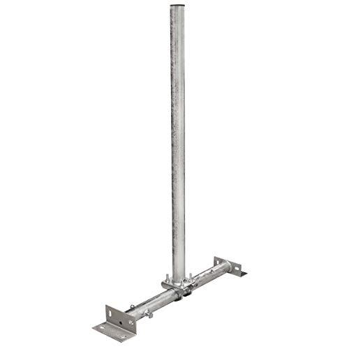PremiumX Dachsparrenmasthalter 100 cm Ø 48 mm Mast Stahl feuerverzinkt SAT Dach Sparren Halter verstellbar 40 – 70 cm Aufsparrenhalter Dachsparrenhalter Sparrenhalter - 3