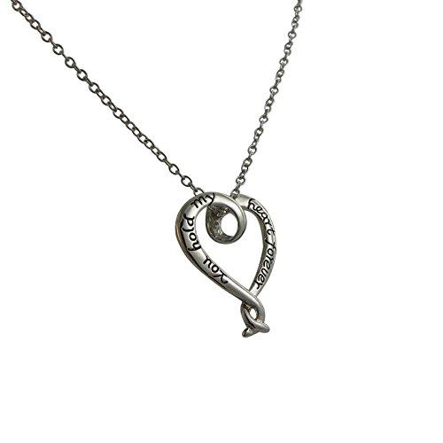 Rosemarie Kollektionen Damen-Inschrift Anhänger Herz Halskette