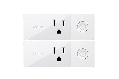 Wemo Mini Wlan-Smart Plug 2Er-Pack, Wi-Fi Aktiviert, Arbeitet Mit Amazon Alexa Und Google-Assistent
