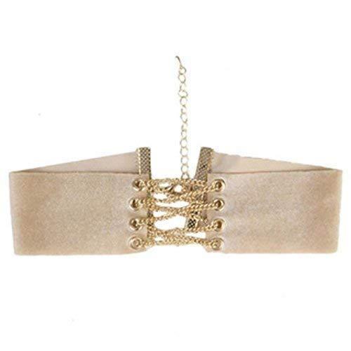 Diva Korsett - Neue Damen Samten Halsband DollzKill Stil