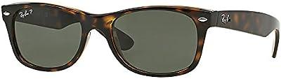 Ray Ban Wayfarer RB2132902/58tortuga/cristal verde 52mm gafas de sol polarizadas