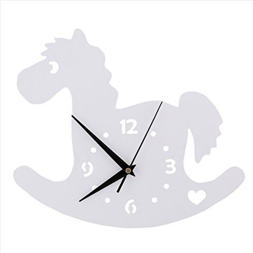 LOTOS Horloge murale de Trojan Chambre d'enfant Chambre Horloge silencieuse Belle famille Décoration Boutique