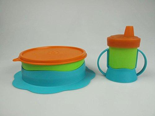 TUPPERWARE Kinder Teller 500ml + Trinkbecher 200ml TupperCare Baby Kinderteller
