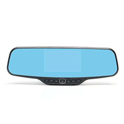 GOZAR 1080P Auto Reverse Doppel-Objektiv Kamera Auto Dash Cam Rückansicht Spiegel Video Recorder Dvr