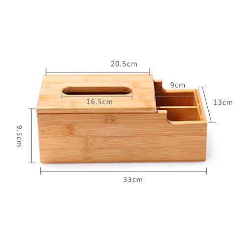 DUO baldas Organizador de almacenamiento de escritorio de madera, soporte de carrito de control remoto Caja de madera Contenedor para escritorio, Suministros de oficina, Hogar, Mesa auxiliar 4 estilos