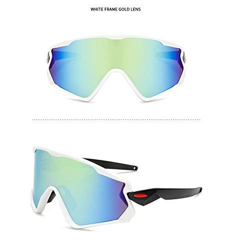 NAN® Sport Sonnenbrillen Outdoor-Männer Und Frauen Polarisierten Sport Sonnenbrillen Jugend Angeln Baseball Bike Laufen Fahren Golf Motorrad Brille,White