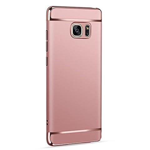 Webla Samsung Galaxy Note 5 Hülle ,Thin Electroplate Hard Case Cover für Samsung Galaxy Note 5 Handyhülle Case Schutzhülle für Samsung Galaxy (Rose