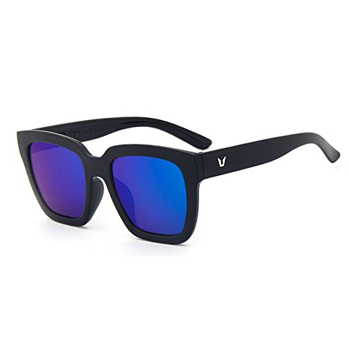 Z-P new style fashion unisex radiation reflective UV400 color film box sunglasses 66MM