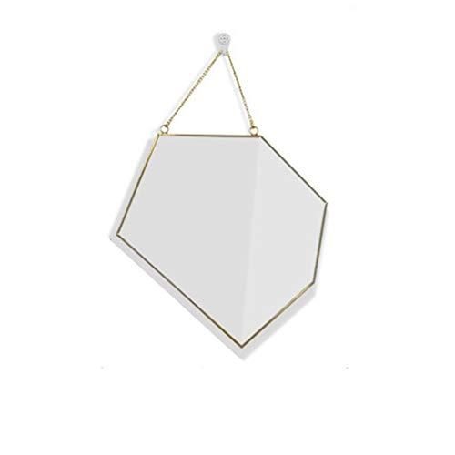 Lily Hochwertiger Kosmetikspiegel Nordic Minimalist Schminkspiegel Geometric Border Modeling Mirror Badezimmerspiegel Schminkspiegel Eingangsspiegel Schminkspiegel Tragbar (Color : C)