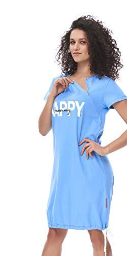 DN, Nachthemd, TCB.9504, spa.Blue, Gr. S -