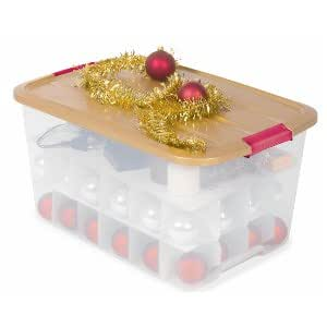 iris ohyama 100096 0 christmas baubles pack of 48 clear plastic storage box gold red 39 x 57 5 x. Black Bedroom Furniture Sets. Home Design Ideas