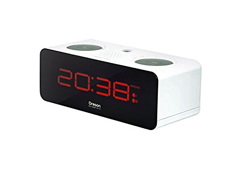 Oregon Scientific RRA320P Radio Reloj Proyector, Blanco, 22x6x10 cm