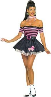 Wench Kostüm (50's Pretty in Pudel Kostüm (Erwachsene Größe)