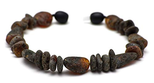 Bernsteinarmband Damen - Bernsteinarmband Herren - Baltische Bernstein Perlen der höchsten Qualität mit Echtheits-Zertifikat - 100 Tage 100{724177f8d457a35fd96d9db56ce6eece73dda3cd1a6fdf99ed0ce64aa3dd2e10} Zufriedenheitsgarantie - die Länge 22-23cm / BLK.U-MIX23