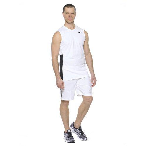 NIKE Herren Shorts Strike Woven Mehrfarbig (Weiß/Schwarz)