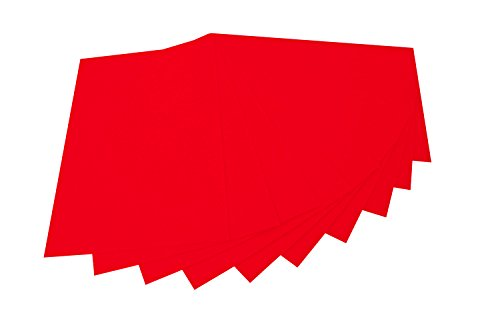 folia 520420 - Bastelfilz, mit feiner Wollqualität, 10 Blatt, 150 g/qm, 20 x 30 cm, hochrot, klebefleckenfreie Verarbeitung - ideal für vielfältige Bastelarbeiten