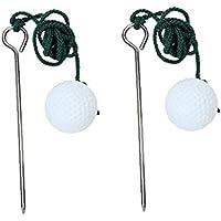 2 PC Durable Balones de Entrenamiento de Golf Cuerda Cuerda Bola de Entrenamiento del Golf Suministros Campo de Golf de Metal al Aire Libre portátil