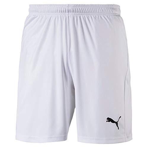 PUMA Herren Liga Core Shorts, White Black, M