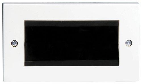 Philex 70436R Wandblende zur Kabelführung, mit Bürsteneinsätzen, doppelte Breite