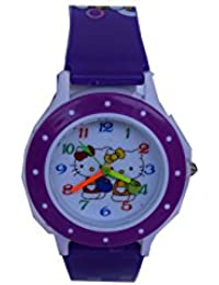 VITREND (R-TM) Hello Kitty Round Dial New Look Watch - For Boys & Girls ( Sent As Per Available Colour)