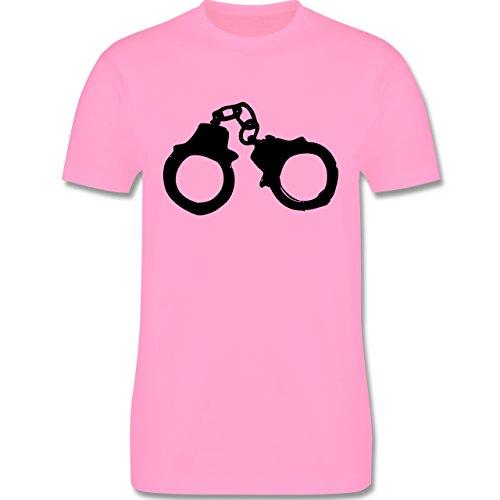 JGA Junggesellenabschied - Handschellen - Herren Premium T-Shirt Rosa