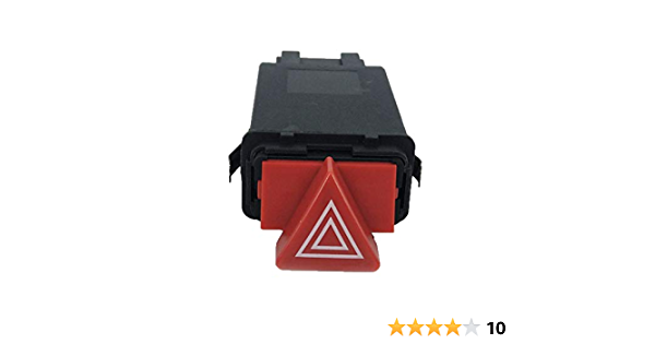 Qiilu Interruttore del pulsante di avviso di pericolo auto Rel/è di segnalazione pericolo lampeggiante Pericolo per A3 1996-2003 8L0941509L 8L0941509P