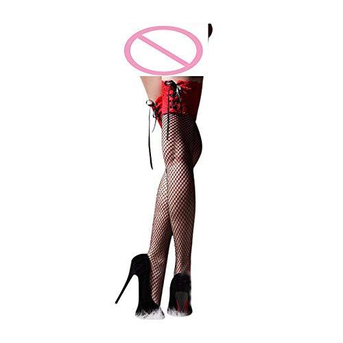 terlos Damen Sexy Sheer Lace Top Oberschenkel Hohe Strümpfe Oberschenkel Highs Hosiery Nets Bleiben Sie ()