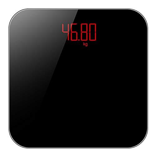 Bilancia Pesapersone Digitale Ad Alta Precisione, con Display LCD Retroilluminato Ricaricabile USB, Design Sottile 23mm, Peso Massimo 180 kg, Display Retroilluminato, Utilizzabile nelle Case