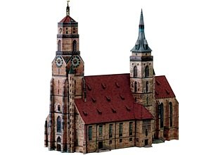 "aue-verlag 23x 10x 21cm Kit de modelo ""Colegiata de Stuttgart Alemania"