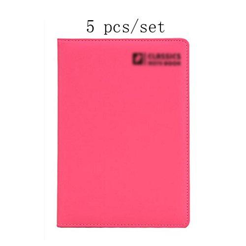Liu Yu·Büro Raum, Bürobedarf Schreibwaren rosa A5 Notebook hochwertigen Verdickung Notebook 5 Stück/Set -