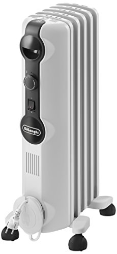 De'Longhi TRRS 0510M Interior Blanco 1000W Radiador - Calefactor (Radiador, Interior, Blanco, Interruptor, Giratorio, 1000 W)