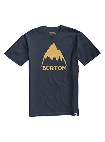 Burton Herren Classic Mountain High Shortsleeve T-Shirt, Mood Indigo, S (Burton Shirt Blau)