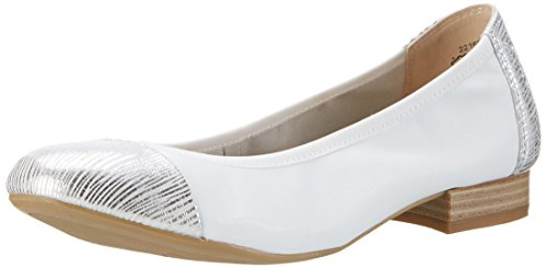 Caprice 22169, Ballerine Donna Bianco (White Na.comb)