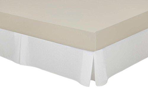 Cassa Luyton Couvre sommier à Soufflets en Toile en Coton-Polyester Blanc 200 x 200 cm