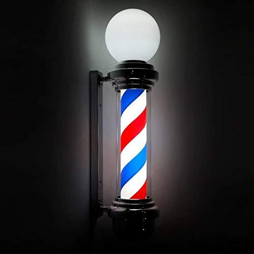 Wsjfc LED Barber Pole mit Top Lampe wasserdicht rotierende weiße rote LED-Streifen drehen und beleuchtet Friseursalon Licht Zeichen Wandleuchte (Farbe : B),EIN