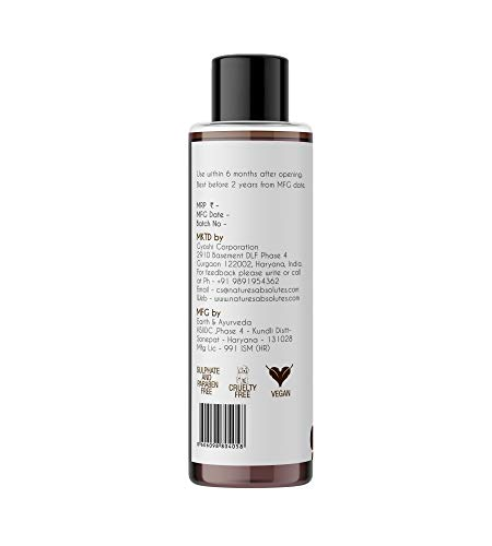 Nature's Absolutes Organic Shampoo for All Hair Types , Sls & Paraben Free