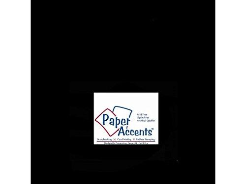 Accent Design Papier Akzente cdstk glatten 12x 1280# schwarz (12x12 Schwarzen Cardstock Papier)