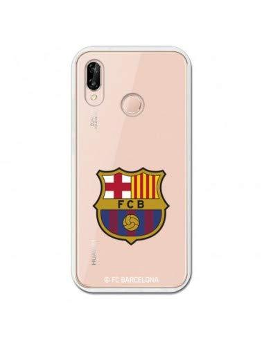 FC. Barcelona Carcasa Oficial Escudo Fondo Transparente para Huawei P20 Lite