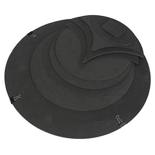 Pigupup 10PCS / Set hohe Härte Drum Sound Off Quiet Gummischaum Bass Snare Praxis Schalldämpfer Pad Drum Zubehör (Bass-drum-praxis)