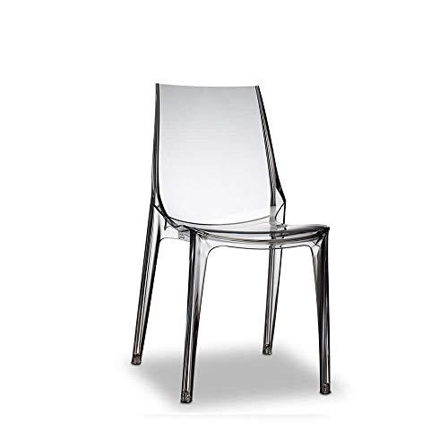 Scab Set 2 Vanity Chair Fumè trasparente