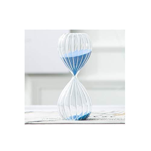 Kuqiqi clessidra, stile design a strisce, materiale di vetro fatto a mano ad alta temperatura, buona qualità, blu (grande/medio/piccolo disponibile) decorazione a clessidra (size : large)