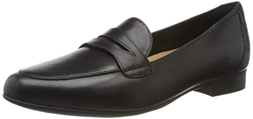 Clarks Damen Un Blush Go Slipper, Schwarz (Black Leather), 38 EU