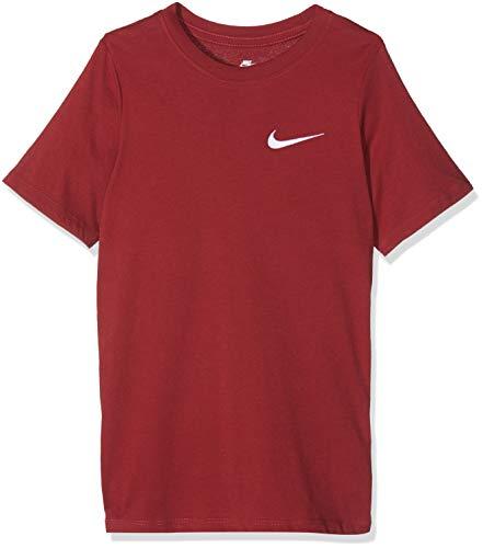 pretty nice 63b2a f38d9 Nike Jungen Sportswear EMB Swoosh T-Shirt Red Crush M