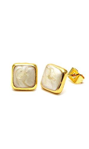 chic-net-brass-studs-cuadrado-textura-8-mm-multicolour-esmalte-sin-nquel-latn-oro