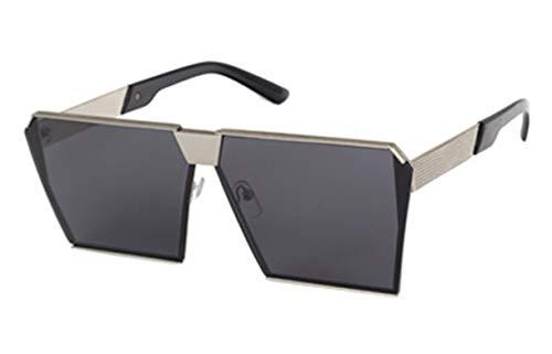 Jasbo Sonnenbrillen HD Objektiv Polarisierte Pilotenbrillen Square klassisch rechteckig Piloten Brille Oversized (Schwarz)