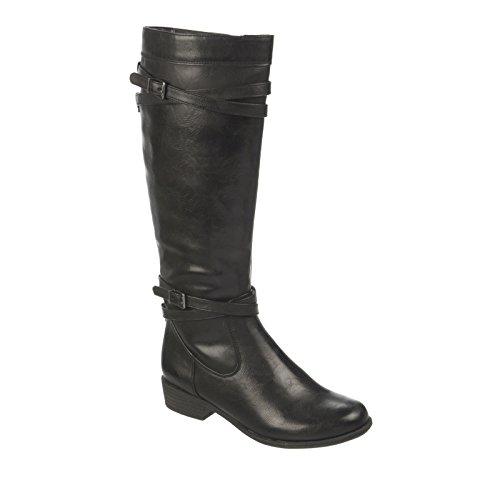 Couro Cano Falso Joelho Vitorioso botas De Alto Escuro Moda Rodada Marrom Naturalizer 4qwOxCE8x