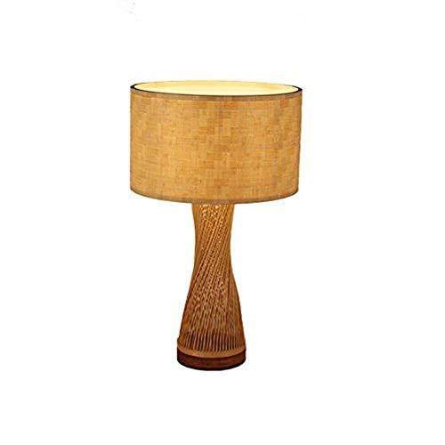 MEIDI Home Echtholz Bambus Lampe Bambus Tischlampe Holztisch Lampe Wohnzimmer Lichter